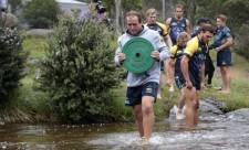 ACT Brumbies throw balls away as Stephen Larkham sends them on Thredbo Amazing Race